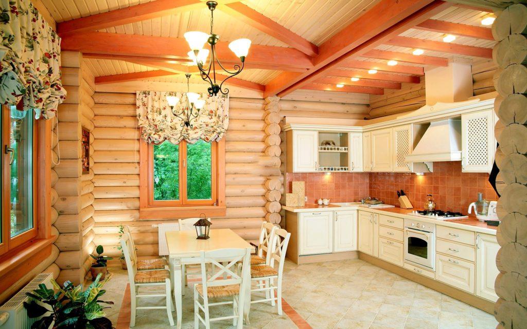 дизайн проект кухни в частном доме фото