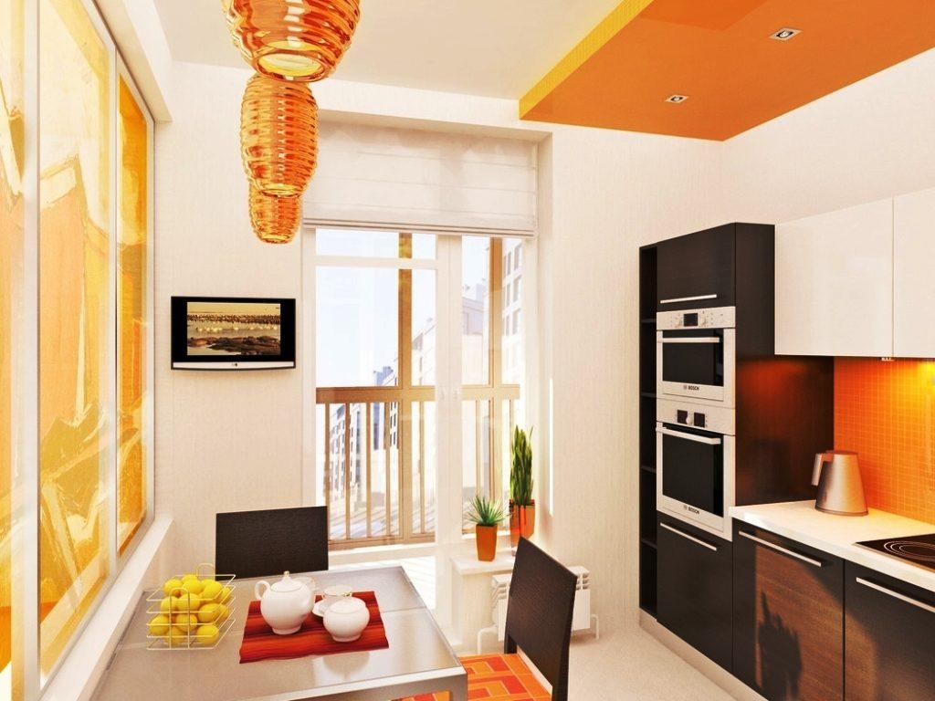Модный дизайн и интерьер кухни 9 кв.м.