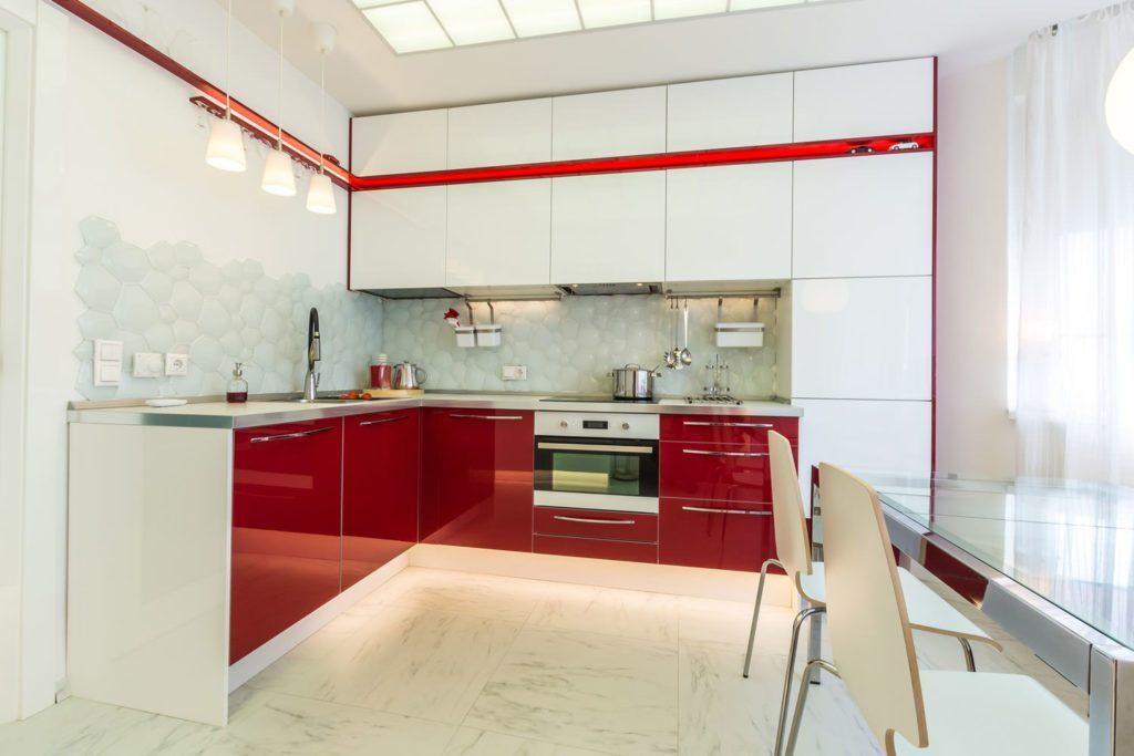 Дизайн кухни 9 кв.м. и сочетание цветов интерьера