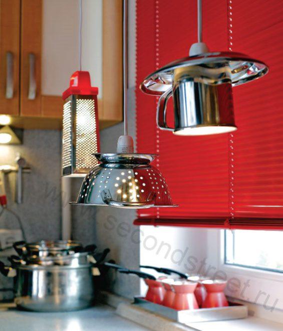 креативное освещение на кухне