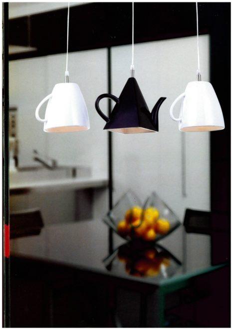 нестандартное освещение на кухне