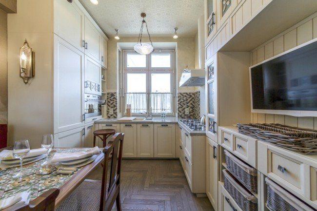 Дизайн кухни 9 кв.м. - сочетание кантри и неоклассики