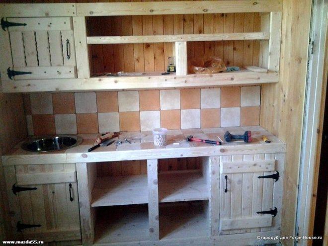 Кухня из материалов своими руками