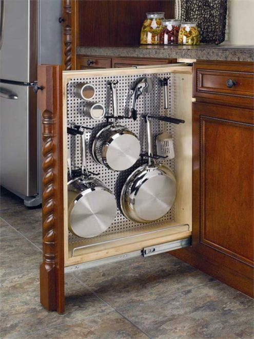 потайные шкафчики на кухню