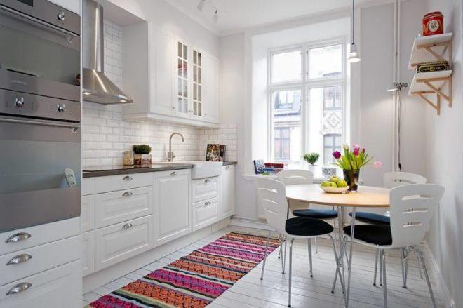 Интерьер кухни 9 кв.м. в скандинавском стиле