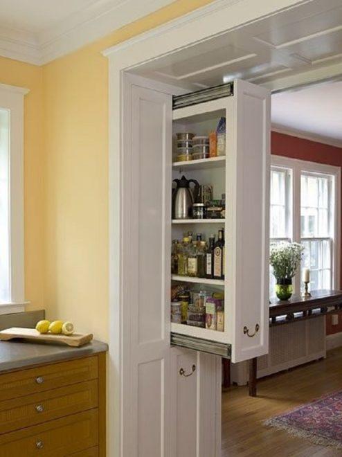 потайные шкафчики на кухню 1