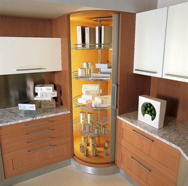 потайные шкафчики на кухню 3