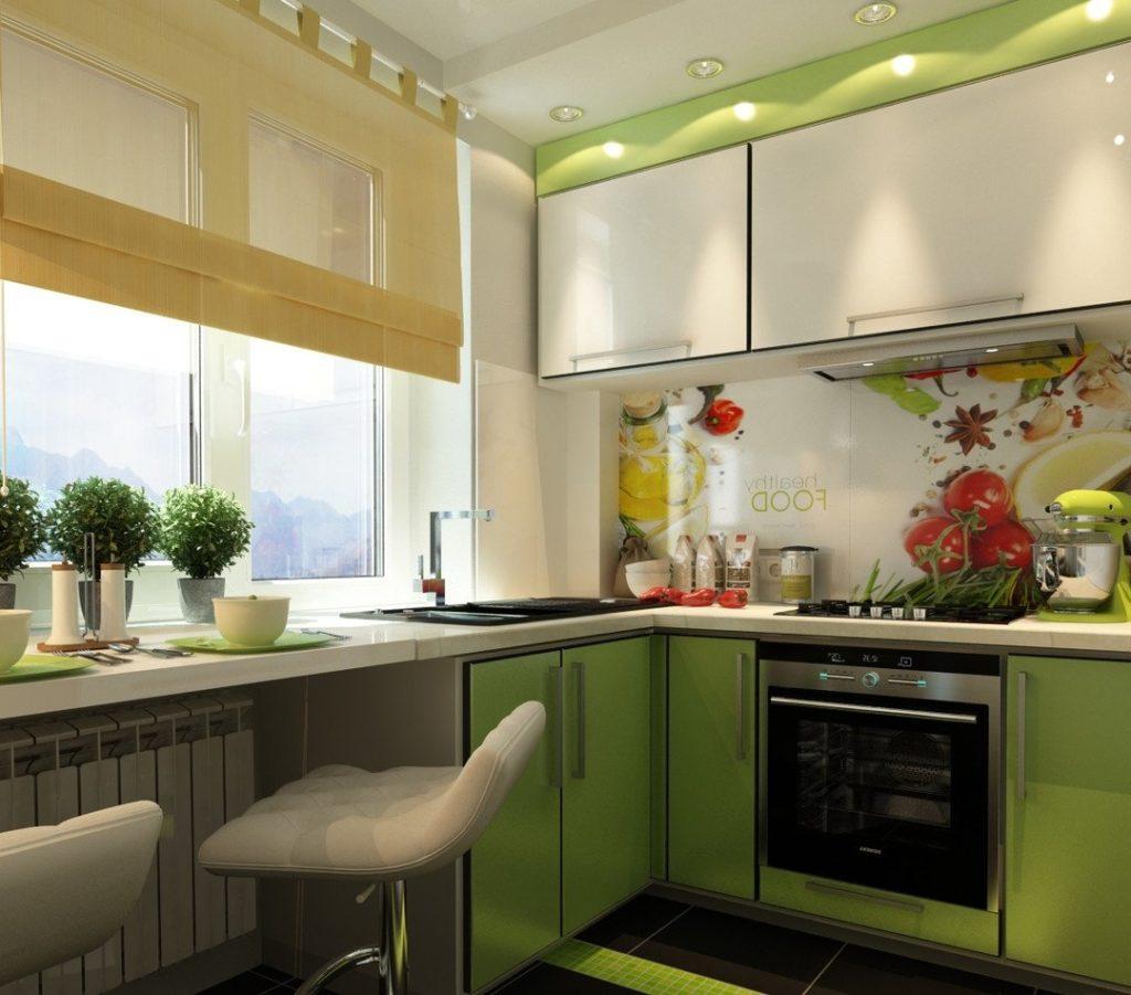 Интерьер кухни 6 кв м дизайн