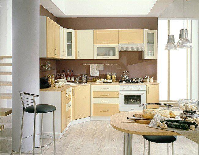 Кухни бежевый верх персиковый низ фото