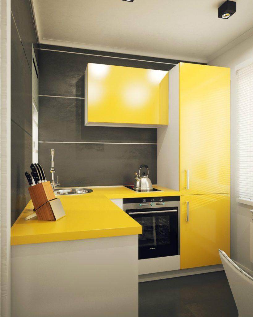 Желтый цвет в интерьере – преимущества