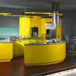 Кухня в солнечных тонах 1