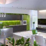 Зелено-серая кухня