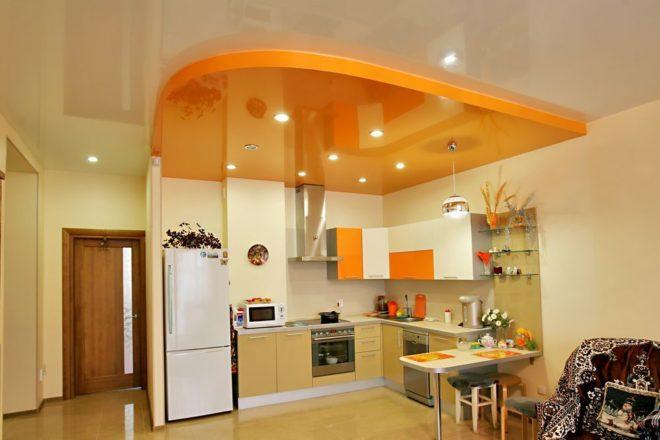 Многоуровневый потолок зонирование