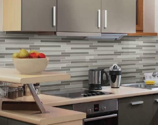 Горизонтальные полосы на кухне