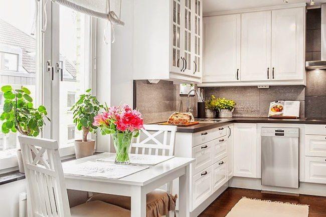 белые кухни в дизайне интерьера