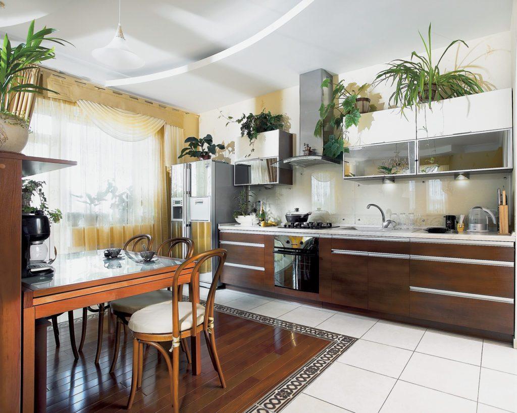 ремонт на кухне 12 метров