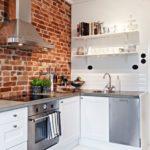 Кирпичные стены на кухне: фото в интерьере, преимущества, советы дизайнеров