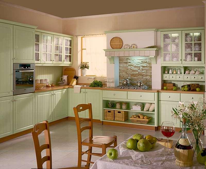 Нюансы отделки кухни в оливковых тонах
