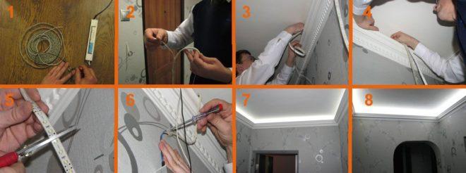 Правила безопасности при монтаже светодиодных лент