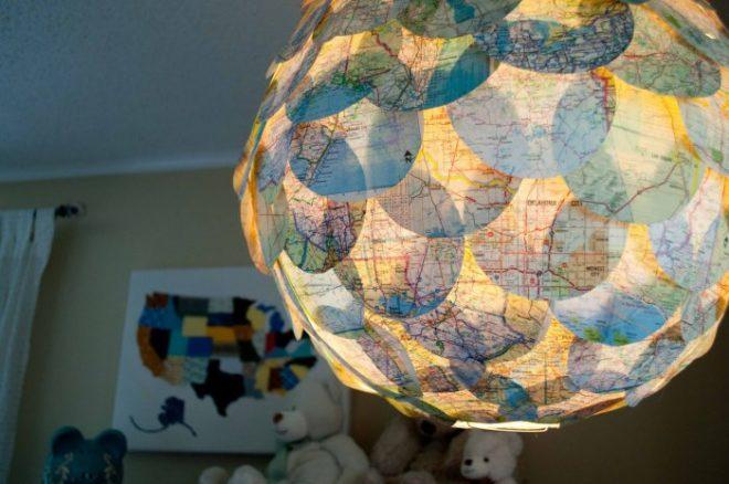 Светильник из глобуса своими руками