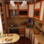 Уютное обустройство маленькой кухни