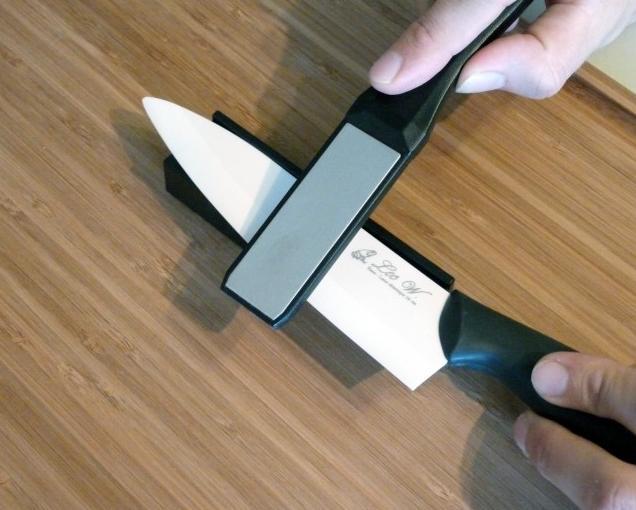 Заточка ножа из керамики