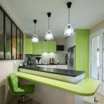 Ассиметричная планировка кухни