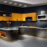 Г-образное расположение мебели на кухне