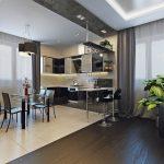 Оформление кухни с гостиной