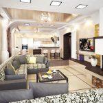 Комфорт и элегантность кухни, совмещенной с гостиной