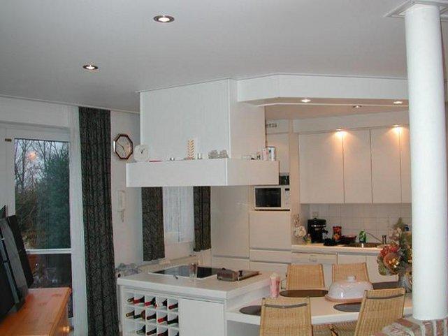 Матовый натяжной кухонный потолок