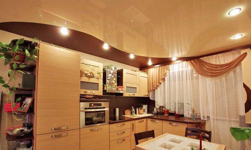потолки подвесные кухня фото