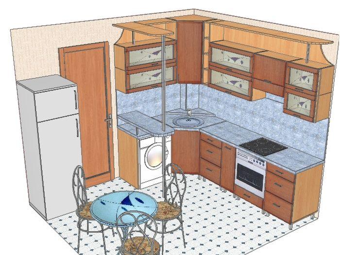 Кухни дизайн чертежи 87