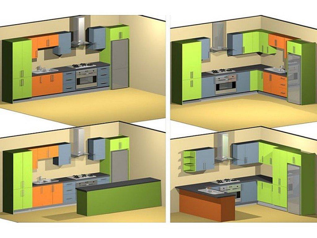 планировка кухонного гарнитура фото