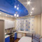 Потолки на кухне (дизайн и фото): натяжной, двухуровневый, пластиковый, подвесной