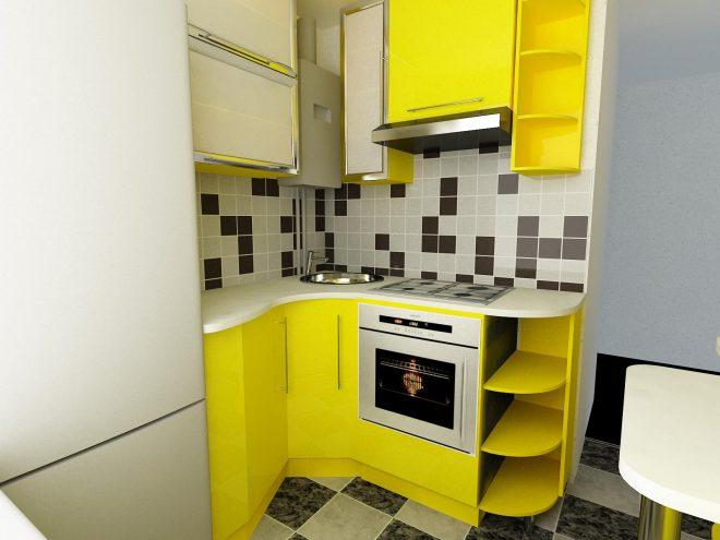Расположение мебели на кухне 4 кв.метров