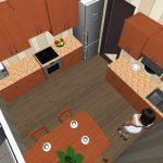 Расположение плиты, холодильника и раковины на кухне