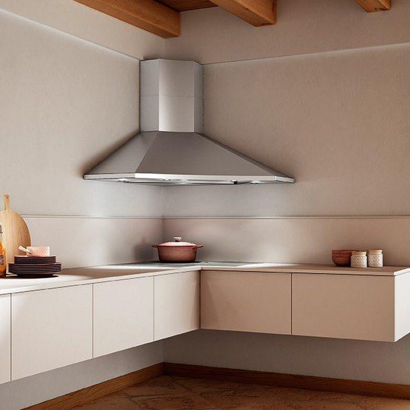 Угловая кухонная вытяжка