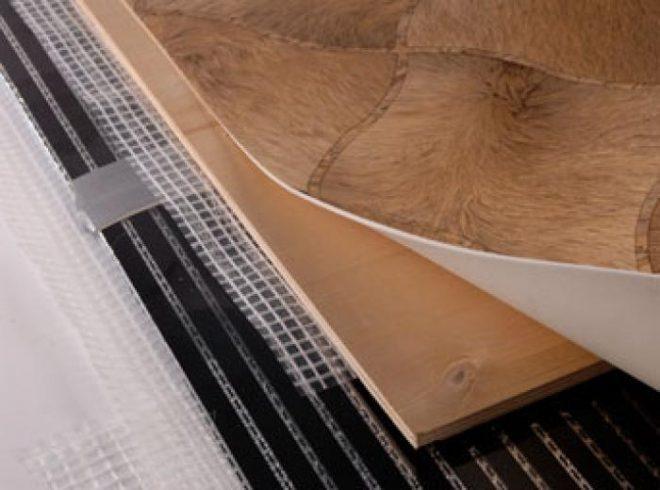 Укладка линолеума на теплый пол
