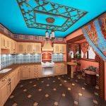 Восточные шторы на кухне