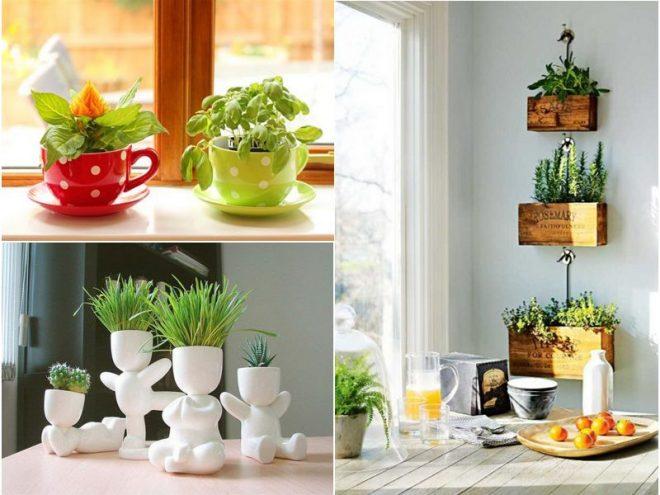 Декорация подоконника на кухне