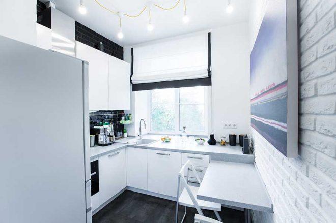 Г-образная кухня 6 кв. м.