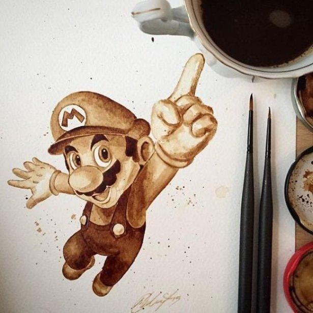 Картина из кофейной гущи