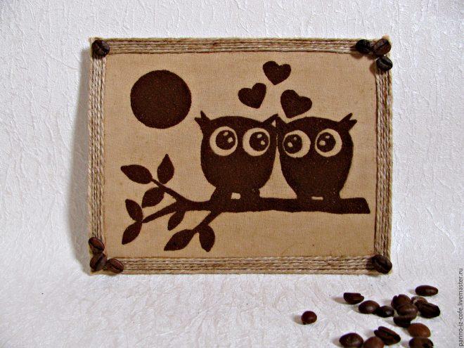Картина из молотого кофе