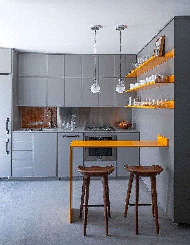 Контраст дизайна кухни