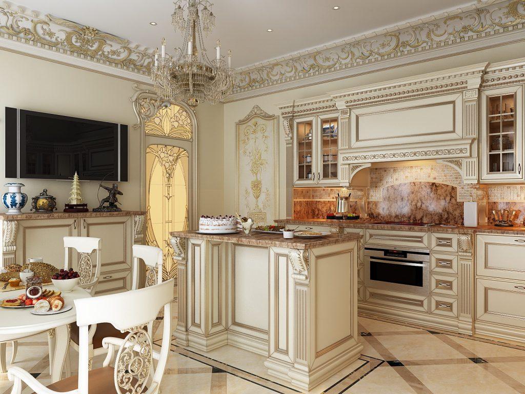 линии угловаты картинки классических кухонь есть, как
