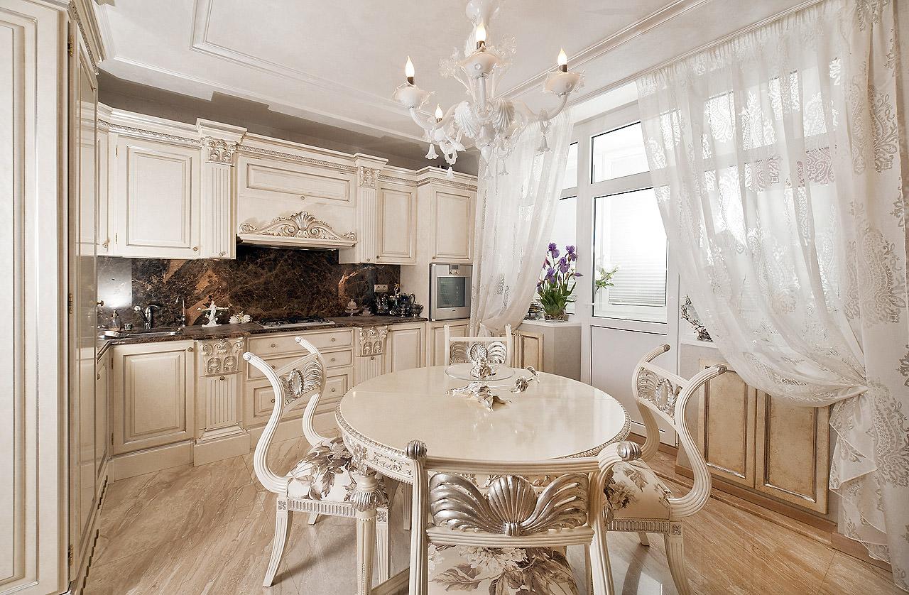 дизайн кухни в классическом стиле светлая фото