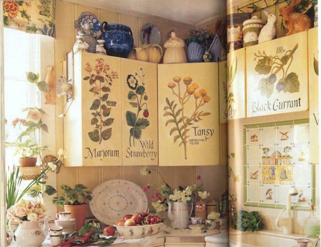 Кухонный гарнитур с панно