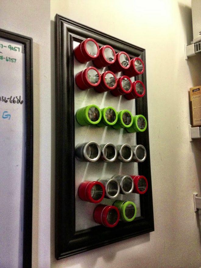 Магнитные доски для хранения специй и приправ