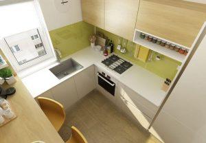 Очень маленькая кухня в современном стиле